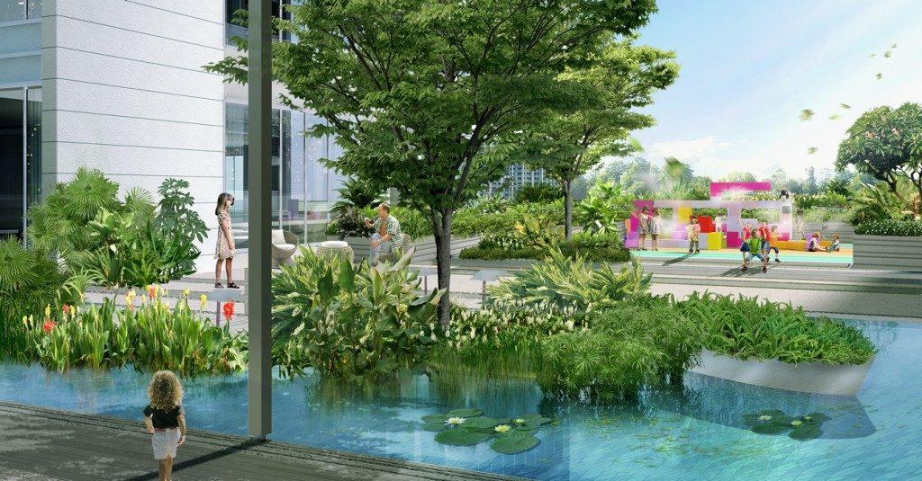 Creative outdoor playground for children