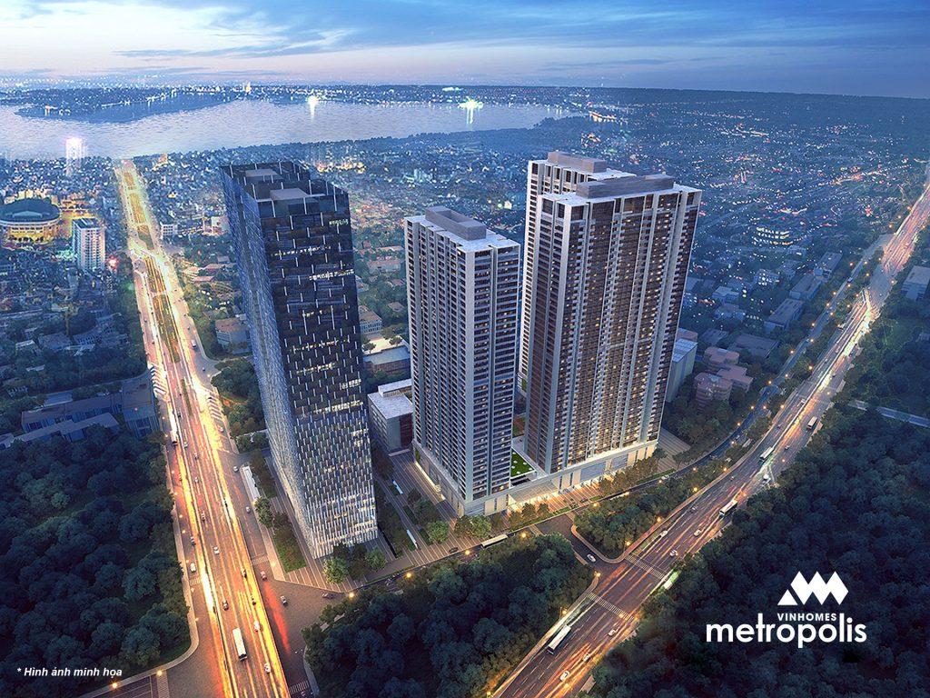 Perspective of Vinhomes Metropolis - 29 Lieu Giai project.