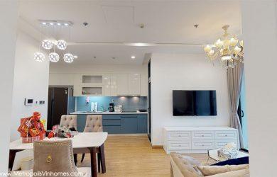 Không gian bếp - căn hộ Metropolis 2 ngủ đủ đồ toà M2 cho thuê.