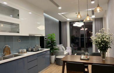 Không gian phòng khách căn hộ Vinhomes Metropolis M2 đủ đồ 1 phòng ngủ.