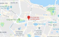 cho thuê chung cư vinhomes metropolis - Map google